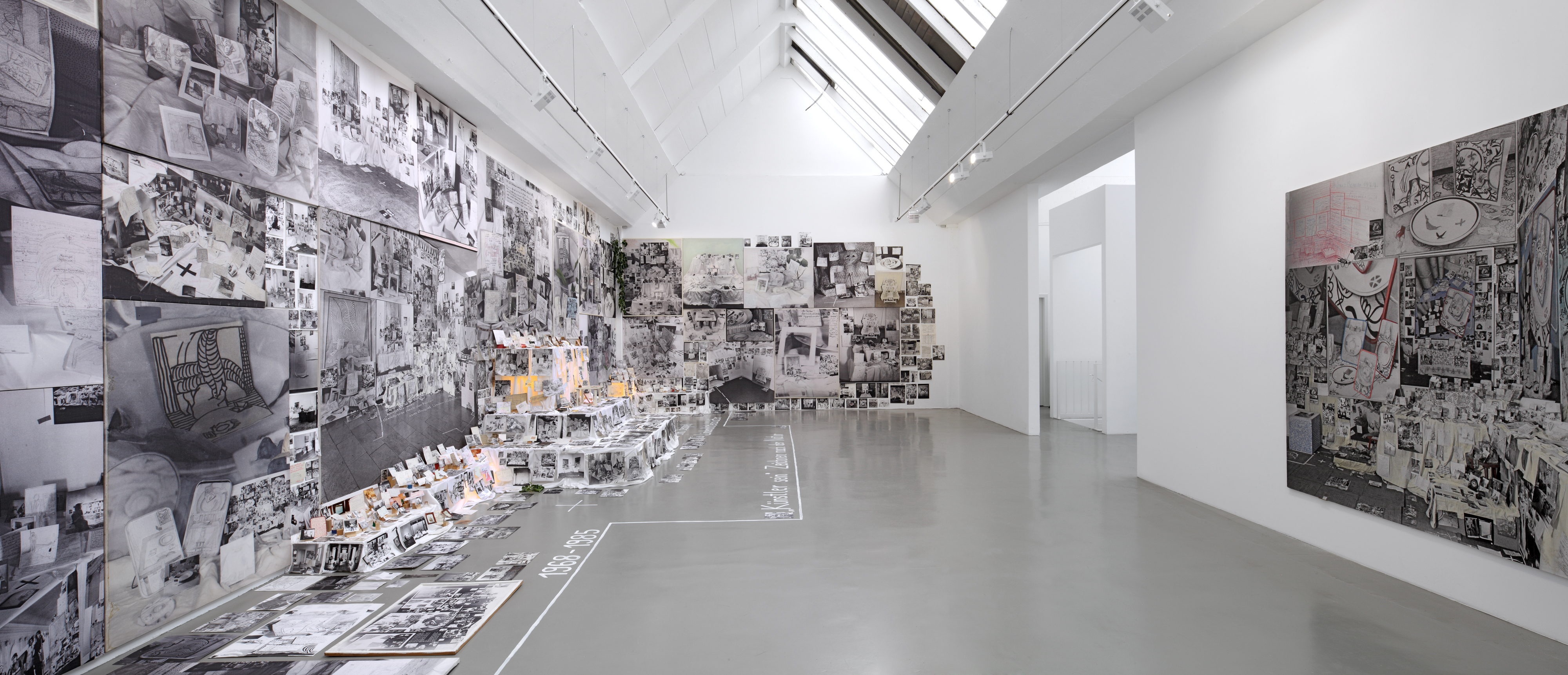 Galerie Barbara Thumm \ Anna Oppermann: Being an artist (Drawing from nature, for example linden blossom petals), 1969 – 1985