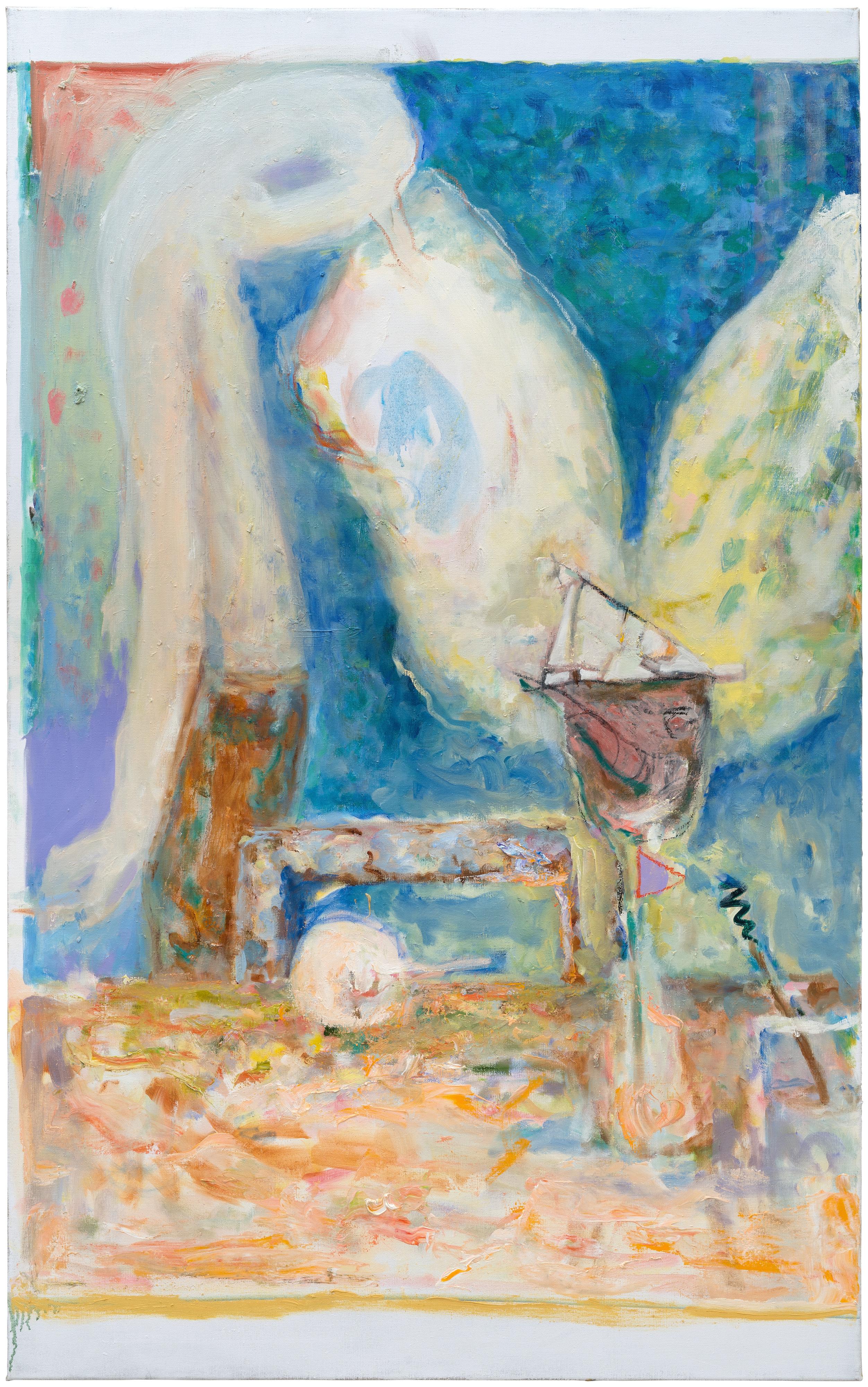 Galerie Barbara Thumm \ Valérie Favre: Am Tisch (VFa-18-014) \ Oil on canvas (2018)