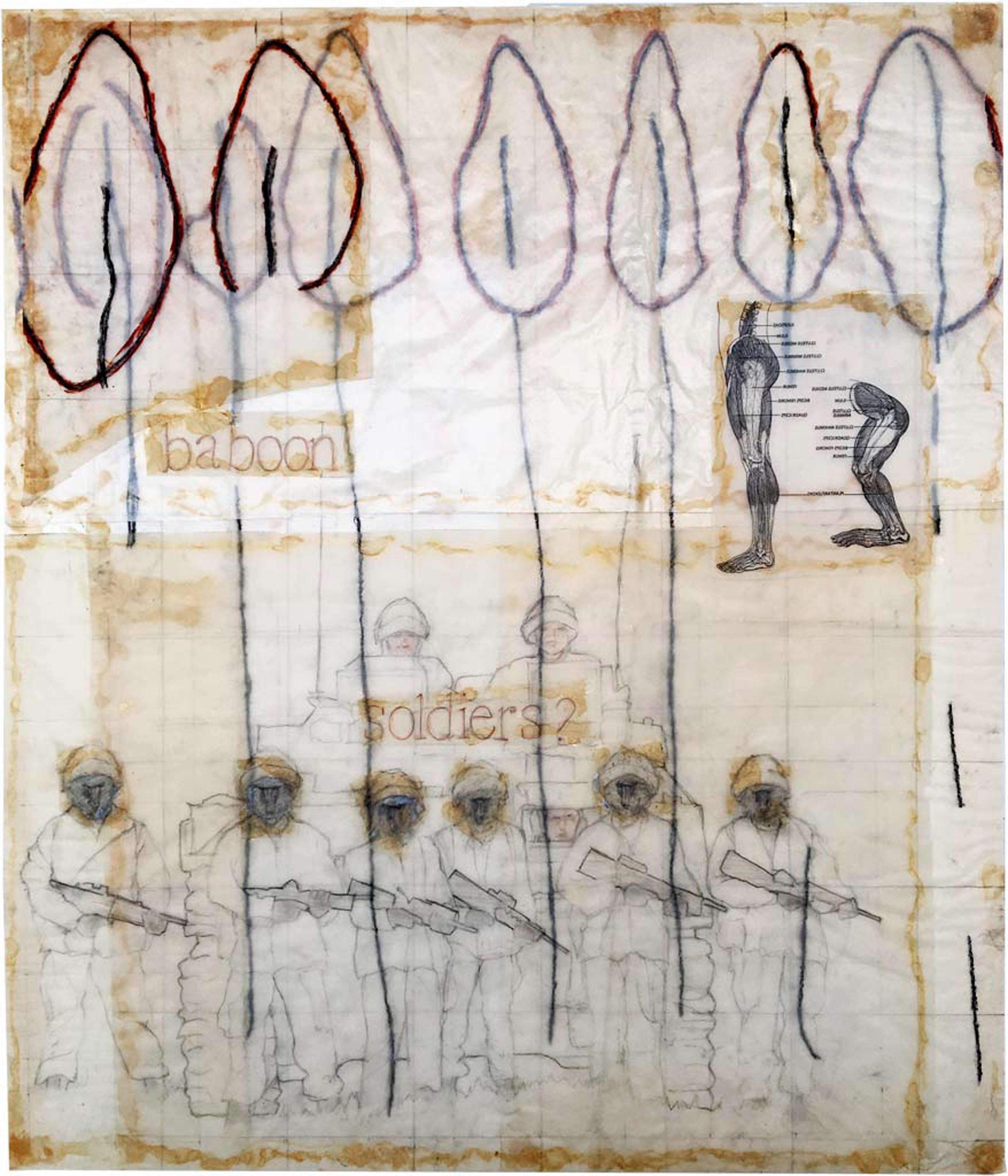 Galerie Barbara Thumm \ ZWANZIG anniversary exhibition 20 years Galerie Barbara Thumm \ baboon soldiers? (1990)