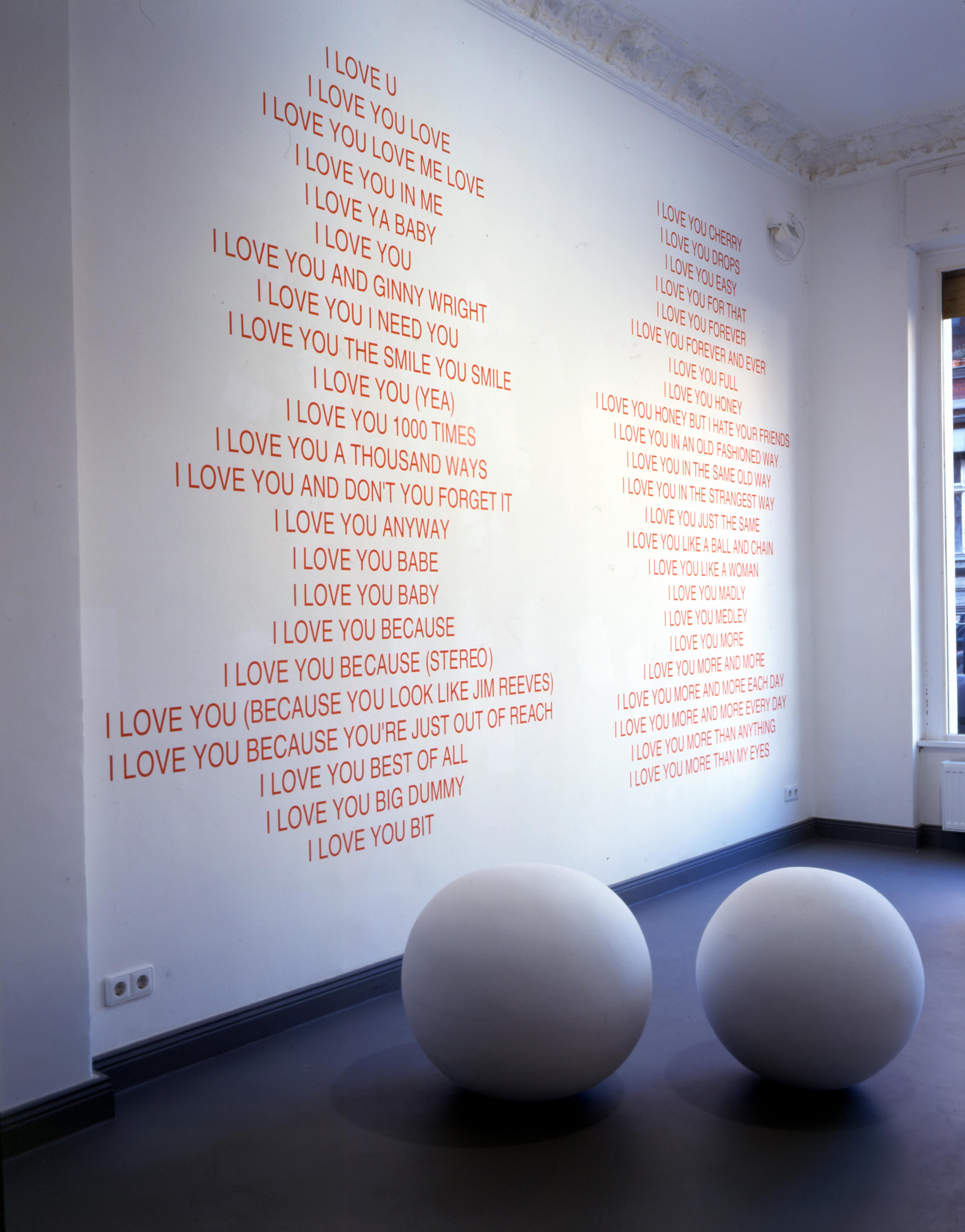 Galerie Barbara Thumm \ Fiona Banner aka The Vanity Press- Love Double – 1998