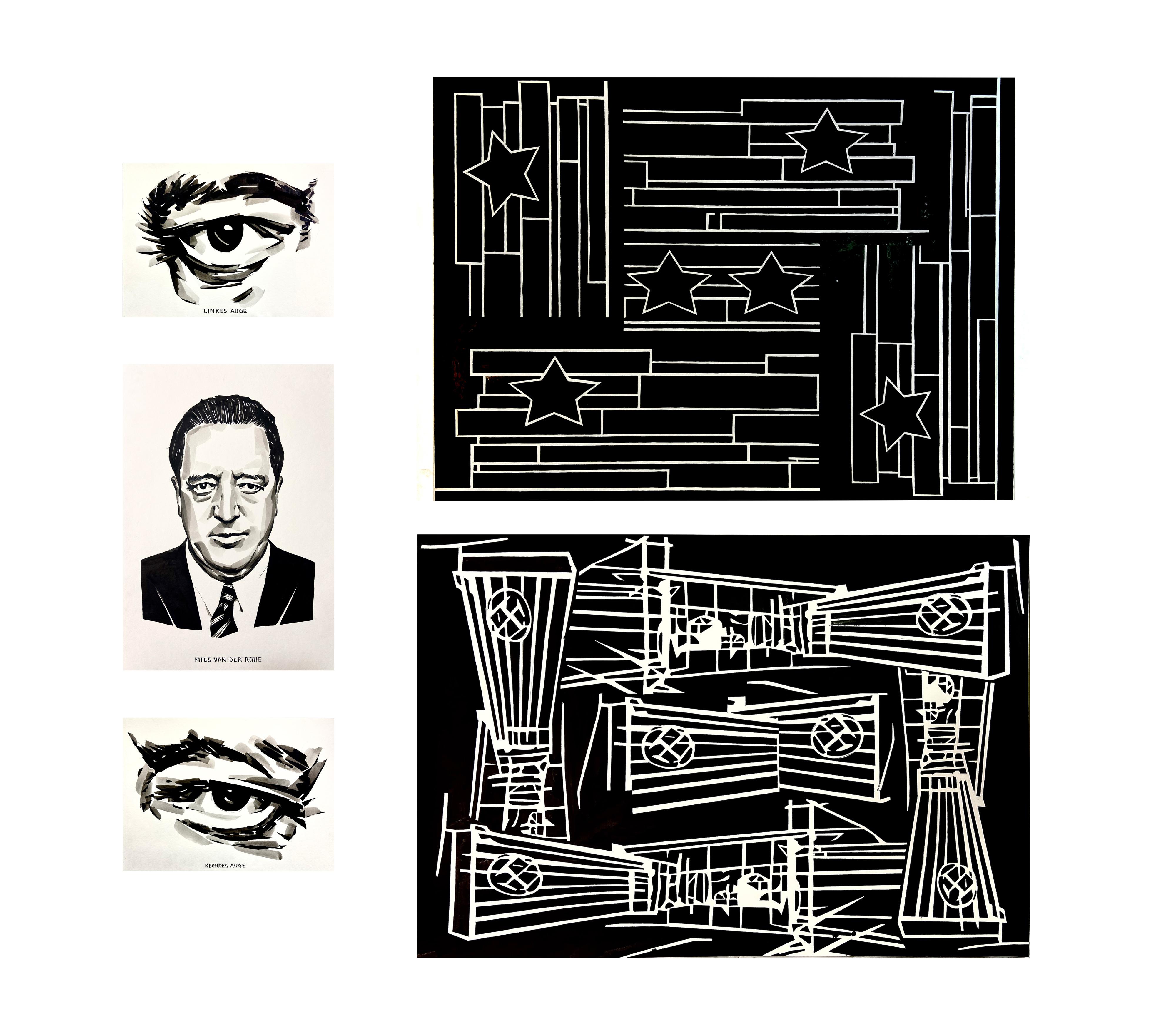 Galerie Barbara Thumm \ Fernando Bryce – 24/34 Mies – FBr-21-0001 \ Mies 24/34 (2021)